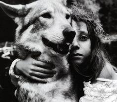 bruno ripoche #photography #girl #wolf