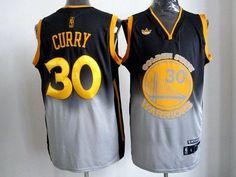 Warriors  30 Stephen Curry Black Grey Fadeaway Fashion Stitched NBA Jersey b93e5e8cc19c