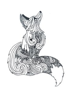 Zentangle fox