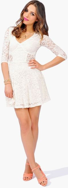 All Lace Everything Dress - Beige