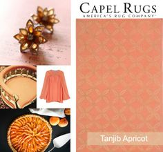 Drawing inspiration from our WILLIAMSBURG Tanjib rug, @Capel Rugs hand selected several apricot-infused designs. Earrings: @Etsy Chair: @LUXURY.dot.com Blouse: @Ethica Tart: @Ashley Muir Bruhn