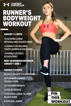 We're here to help. Join Pro Heptathlete Georgia Ellenwood for an at-home runner's bodyweight workout. Fitness Tips, Fitness Motivation, Health Fitness, Workout Fitness, At Home Workout Plan, At Home Workouts, Daily Workouts, Workout Plans, Georgia