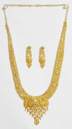 Gold Plated Bridal Jewelry Set with Adjustable Chain 455 only