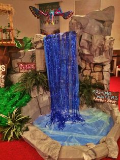 2015 VBS Journey Off the Map Rushing Waters Built from Cardboard Boxes and Craft Paper