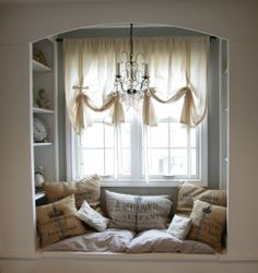 Love this comfy nook.