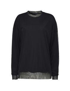 Women's sweatshirt in viscose-blend rib. Below-hip length. Sweatshirts, Sweaters, Fashion, Moda, Fashion Styles, Trainers, Fasion, Sweater