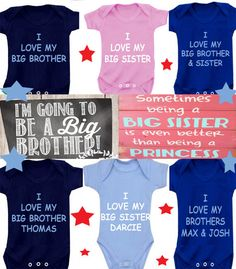 I love my  mummy/nanny brother sister or any FAMILY  member body suit  or DESIGN Your OWN on Etsy, £4.99