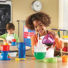 Primary Measurement Set from Learning Resources. Chunky, colorful tools contoured for little hands.