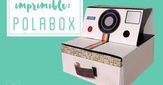 Imprimible gratuito para hacer esta caja de cartón o papel con forma de polaroid!