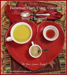 Butternut, Beet, Coconut Soup Chopped / The Kitchen Chopper