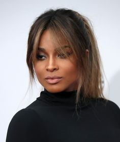Bangs can get in on balayage, too. Incorporating the tone into long, grown-out bangs, like Ciara's, gives hair color a cohesive look.