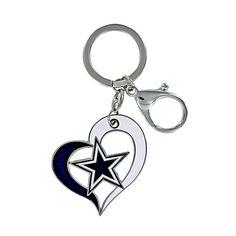 Dallas Cowboys Heart Star Keyring