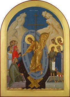Jesus Resurrection, Byzantine Icons, Classical Art, Orthodox Icons, Religious Art, Fresco, Saints, Painting, Sacred Art