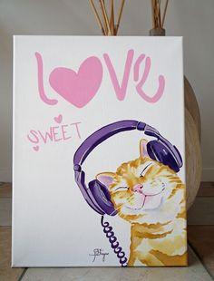 Jess Fragoso Abstracte Schilderijen: CAT MUSIC