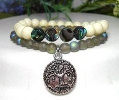 Tree of Life Bracelet Abalone Shell Bracelet by BlueStoneRiver, $29.95