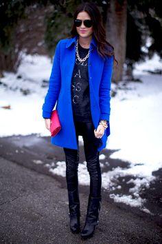 1.13 classic (J Crew coat + ILY Couture sweatshirt + Paige 'black label' pants + Franco Sarto boots + ILY Couture necklace + Prada wallet + Ray Ban sunnies + J Crew, ILY Couture, Stella & Dot bracelets + MAC 'pink nouveau' lipstick)
