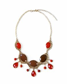 Scarlet Stone Necklace