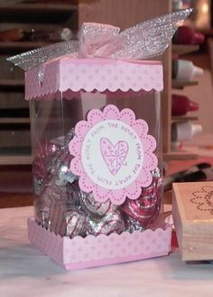 Valentine Acetate Box by - Cards and Paper Crafts at Splitcoaststampers Diy Gift Box, Diy Box, Clear Gift Boxes, Acetate Cards, Diy And Crafts, Paper Crafts, Boxes And Bows, Art N Craft, Paper Flowers Diy
