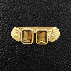 Citrine & Diamond Estate Cuff Bracelet – CRAIGER DRAKE DESIGNS®