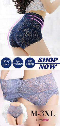 High Waisted Lace Cotton Crotch Tummy Shaping Butt Lifter Panty  highwaist   lace  cotton b0ea29956