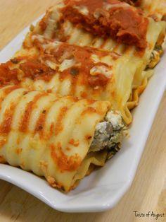 Spinach and Cheese Lasagna Roll-Ups