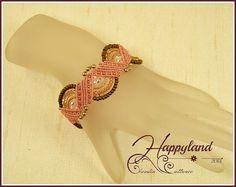 Lilly micro macrame bracelet pattern by Happyland87 on Etsy