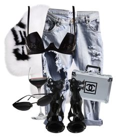 """""""Untitled #3680"""" by xirix ❤ liked on Polyvore featuring Fendi, Chanel and Emilio Pucci"""