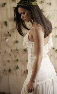 Boho lace wedding dress Marisol www.graceloveslace.com