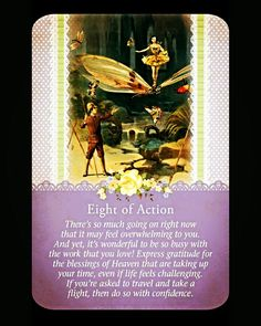 ~Eight of Action card from Guardian Angel Tarot Cards by Doreen Virtue and Radleigh Valentine~