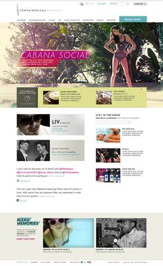 FontaineBleau - Home Page Exploration by Maya Rioux, via Behance