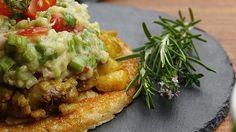 Pudla, indiai krémes padlizsán, avokádó krém – by Hajni Baked Potato, Vegan Recipes, Curry, Potatoes, Chicken, Baking, Ethnic Recipes, Food, Curries