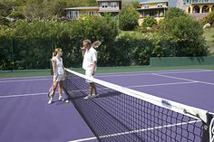 Game. Set. Match.  Resort tennis courts at Frenchmans in the BVI
