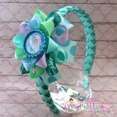Frozen  Elsa The Snow Queen Loopy Flower Hair Bow by PixiePretties, $13.99