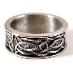 Celtic Wedding Ring Recycled Silver Ring 925 by CelticEternity