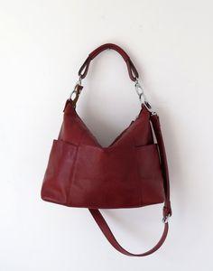 Leather hobo---Adeleshop handmade Leather bag Messenger Diaper bag Shoulder bag Tote Handbag Hip bag Women on Etsy, $158.71 CAD