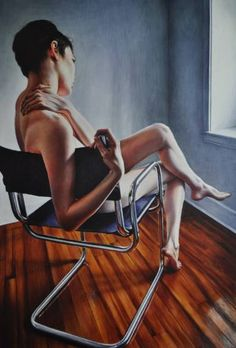 """Saatchi Art Artist Victoria Selbach; Painting, """"'Perspective 2, Wicked Nurse of the West' Available through ONE Art Space NYC (nude painting of woman)"""" #art"""