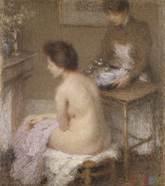 Nude Painting by Ernest Joseph Laurent (1859-1929) French Artist ~ Blog of an Art Admirer