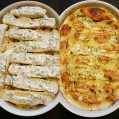 Very easy and delicious tartiflette recipe. Who doesn't like this cheesy goodnes. - Very easy and delicious tartiflette recipe. Who doesn't like this cheesy goodness! Tartiflette Recipe, Different Recipes, Easy Peasy, My Recipes, Quiche, Pizza, Dishes, Breakfast, Food