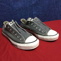 CONVERSE ALL STAR gray low // w7 m5 eu37.5 Minimal wear... No noticeable issues Converse Shoes