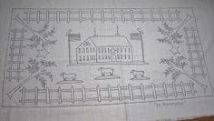 """""""Homestead"""" rug hooking pattern"""