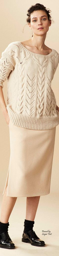 Ryan Roche Fall 2015 RTW knit sweater women fashion outfit clothing style apparel @roressclothes closet ideas