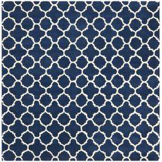Safavieh Chatham Circle Dark Blue & Ivory Area Rug & Reviews | Wayfair