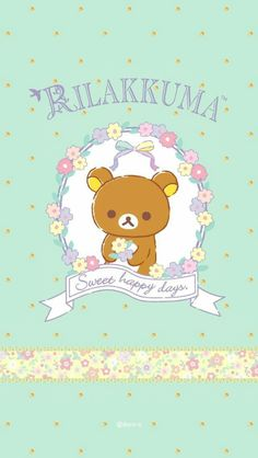 Sanrio Wallpaper, Kawaii Wallpaper, Cartoon Wallpaper, Iphone Wallpaper, Rilakkuma, Cute Wallpaper Backgrounds, Cute Wallpapers, Rilakuma Wallpapers, Kawaii Subscription Box