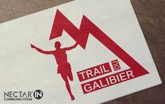 Logo Trail du Galibier. By Nectar'In Communication.