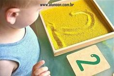 Inexpensive and DIY Sandpaper Numerals Plus Alternatives Sandpaper Numerals with Sand Tray (Photo from How We Montessori) Montessori Preschool, Preschool Learning, Fun Learning, Learning Activities, Preschool Activities, Montessori Room, Dinosaur Activities, Montessori Elementary, Teaching Reading