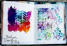 Love the chevron page. The colors are both dark and light but all are vibrant. White space.