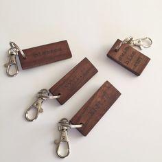 Custom Key Chain; Personalized Key Chain;  Wood key chain, wedding favors; personalized gift by WoodandGrainDesigns on Etsy https://www.etsy.com/listing/232985505/custom-key-chain-personalized-key-chain