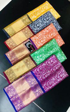 Latest lite weight pattu sarees with blouse. These sarees designed with lite weight pattu fabric with allover zari design with contrast border and blouse. Net Saree Blouse, Half Saree Lehenga, Soft Silk Sarees, Photo Hosting, Siri, Saree Wedding, Silk Fabric, Indian Fashion, Designers