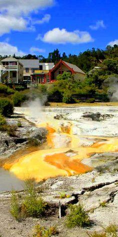 Te Whakarewarewa Thermal Valley, Rotorua, New Zealand Visit us at http://www.malfroymotorlodge.co.nz/rooms.html #rotoruaaccommodation #rotoruamotels #rotorua