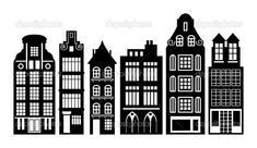 house illustration black and white - Google Search